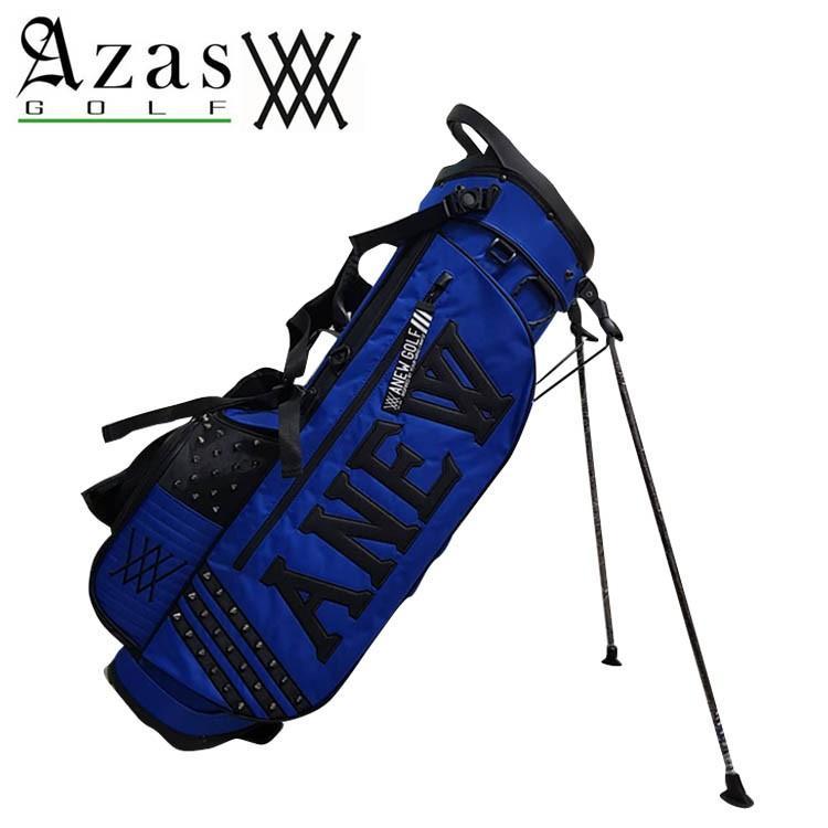 アザスゴルフ アニュー 6044 ANEW OG [deep 青] スタンドバッグ キャディバッグ (2.8kg / 9インチ) スタッズ付き 青 ブルー 青 STAND BAG 19at