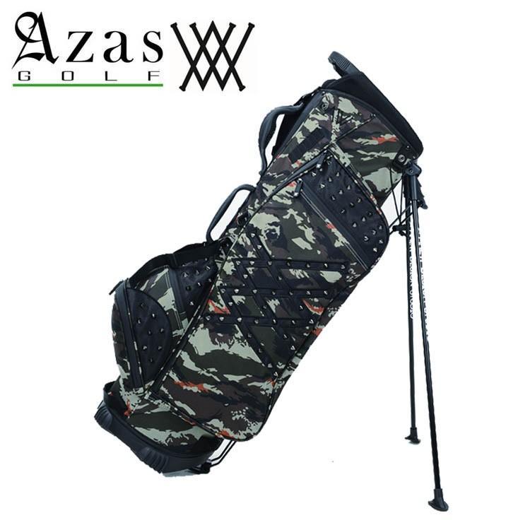 アザスゴルフ アニュー 6023 ANEW StandBag [desercamo] スタンド キャディバッグ (2.8kg / 9型) ユニセックス カモフラ柄 黒スタッズ付き STAND BAG 19sm