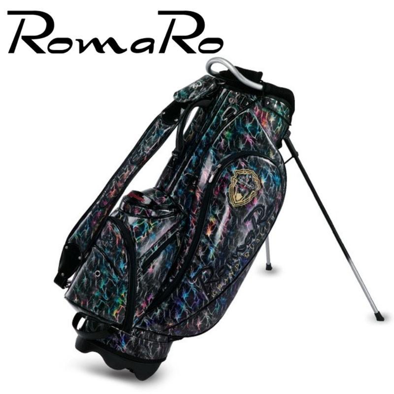 ロマロ プロモデル プレミアム スタンドバッグ 稲妻 2019年 数量限定モデル 3.7kg 8.5型 キャディバッグ RomaRo PRO MODEL PREMIUM STAND BAG Black 19at