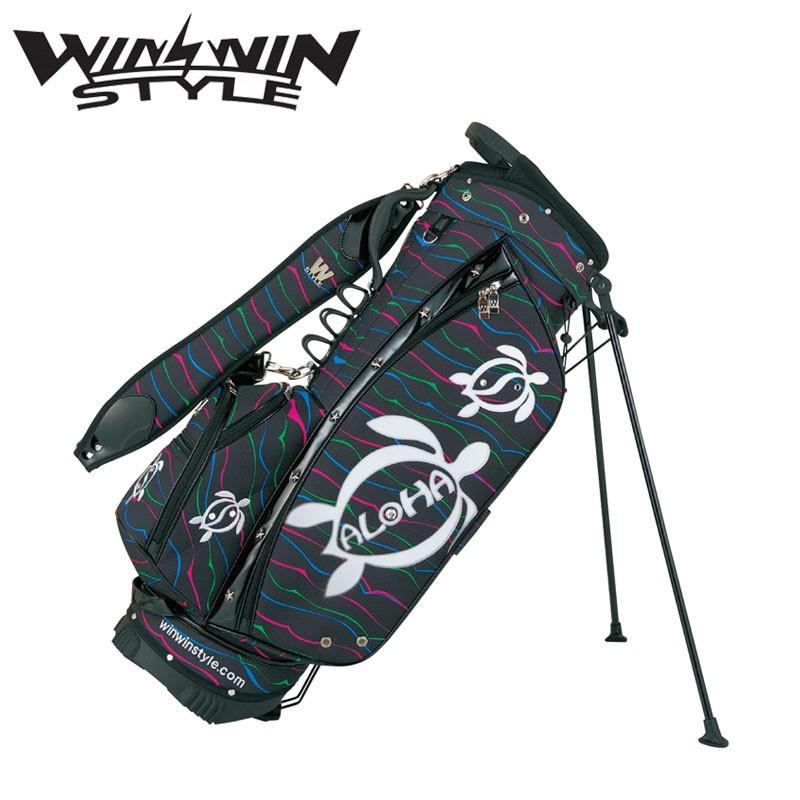 衝撃特価 ウィンウィンスタイル アロハ ホヌ スタンド スタンド キャディバッグ HONU (3.0kg/9.0型x47インチ) STYLE ブラック 2019年モデル WINWIN STYLE ALOHA HONU Stand bag 19at, e-carts:8b49e45b --- airmodconsu.dominiotemporario.com