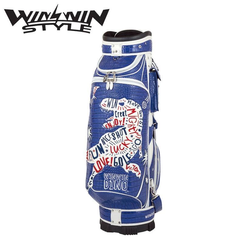 ウィンウィンスタイル DINO 恐竜 カート キャディバッグ ブルー シルバーバージョン (4.0kg/9.0型x47インチ) 2019年限定 WINWIN STYLE DINOSAUR Cart bag 19at
