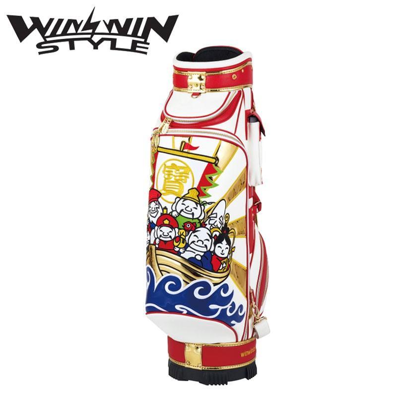 ウィンウィンスタイル 七福神 カート キャディバッグ ゴールドバージョン (4.0kg/9.0型x47インチ) 2019年限定モデル WINWIN STYLE SEVEN GODS Cart bag 19at