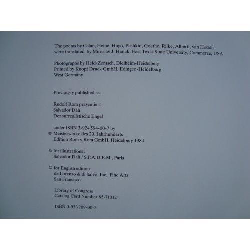 「サルバドール・ダリ シュルレアリストの天使(Salvador Dali The Surrealist Angel)」[B190067]|machinoiriguchi2|07