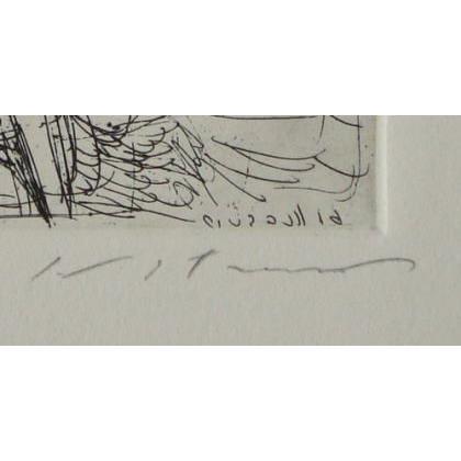 池田満寿夫「小さな女たち(小さな踊子)」(版画)【額縁無し】[A140002]Masuo Ikeda|machinoiriguchi2|03