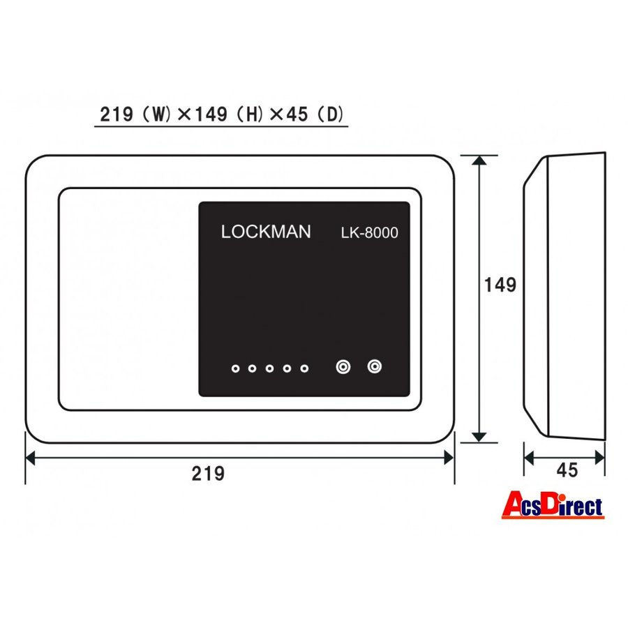 当日発送 LK-8000 (VOLCALOCK専用制御盤) ロックマンジャパン ※台数値引き対応します!