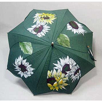 高級シルク傘 手描きフラワー傘「ひまわり」