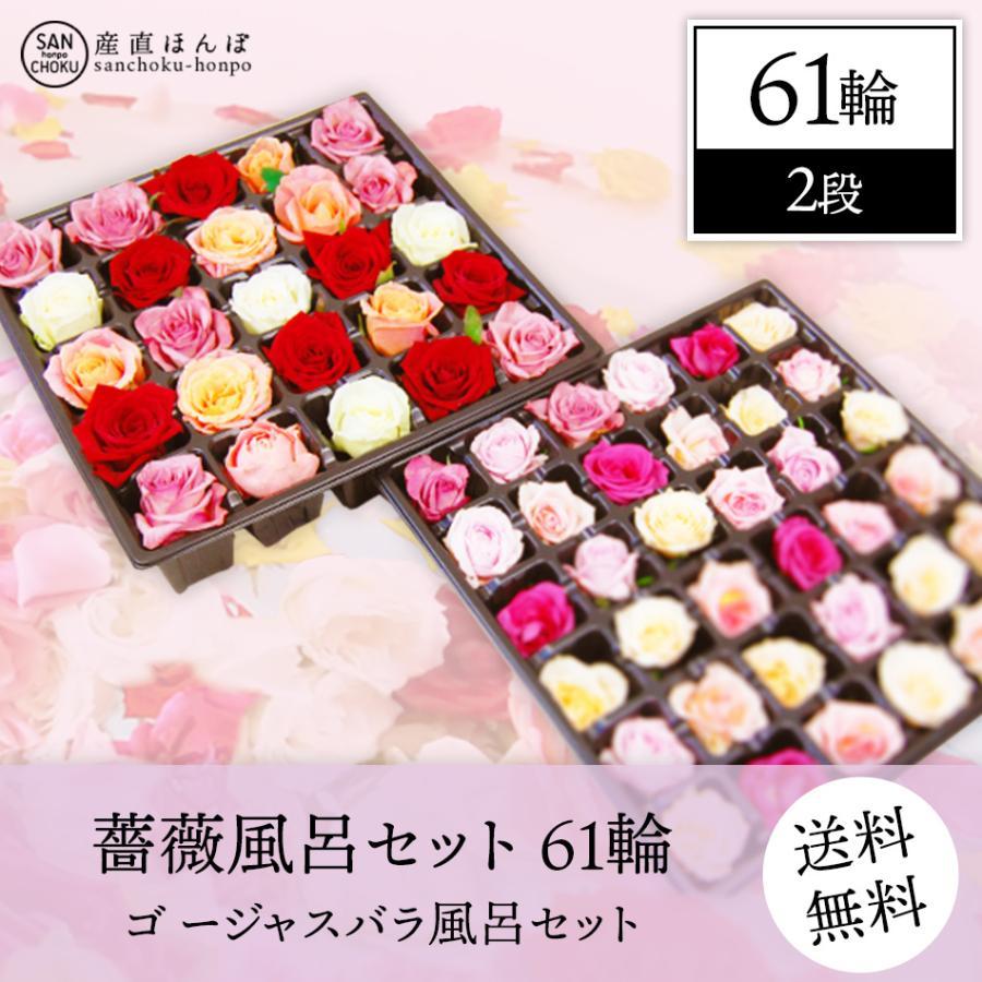 薔薇風呂 セット61輪