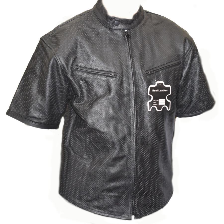 ハーレーにおススメ 入手困難 柔らかい なめし本革パンチング メッシュTシャツ黒 確かなレザークオリティ 白 全店販売中 選択可