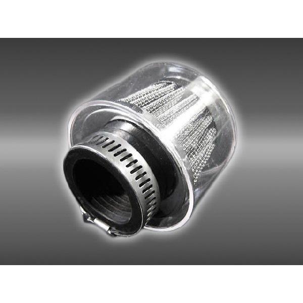 値引き パワーフィルター ラウンドタイプ クリアカバー付 35mm 汎用 初回限定 メッキ