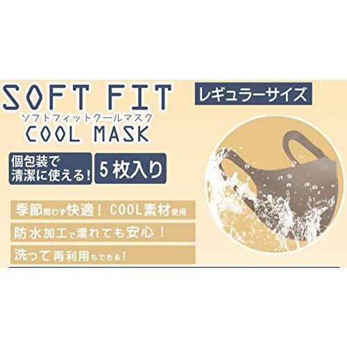 サンモト マスク 洗える 立体 冷感 クール 素材 伸縮 抜群 男女兼用 超フィット 防水 個包装 ベージュ 5枚入り Soft Fit Cool madoastartstore 05