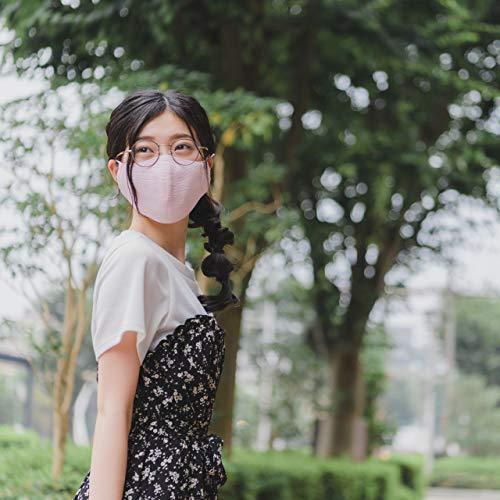 モダン和紙織りマスク パステルカラー パープル(紫) 小さめサイズ(S) 抗菌 消臭 蒸れにくい 日本製 和風 着物に最適 女性やお子さまに madoastartstore 03