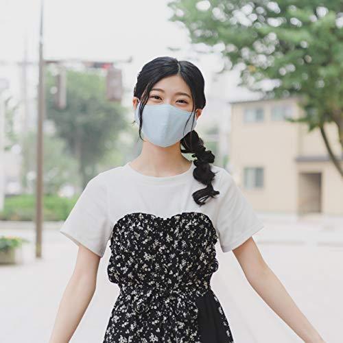 モダン和紙織りマスク パステルカラー パープル(紫) 小さめサイズ(S) 抗菌 消臭 蒸れにくい 日本製 和風 着物に最適 女性やお子さまに madoastartstore 05