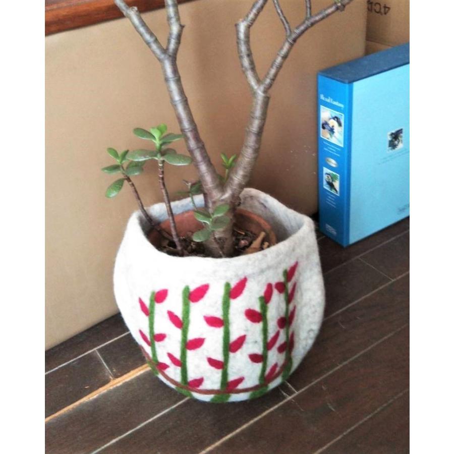 トレンド セール商品 フェルト 植木鉢カバー フラワーポットカバー ツリー