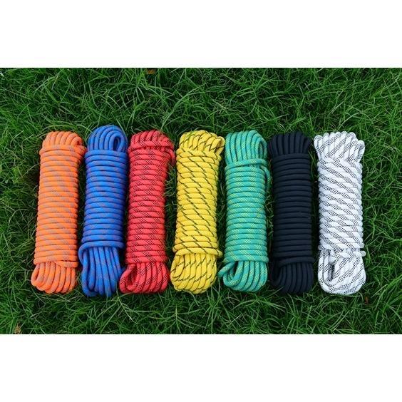 クライミング ロープ 12mm 10m ザイル ガイ 登山 新色追加 まとめ買い特価 キャンプ アウトドア 画像は色見本です 白 赤 黄 黒 橙 青 緑