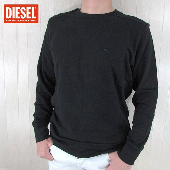 期間限定送料無料 ディーゼル DIESEL トレーナー スウェット プルオーバー S-DANT-KLARK FELPA 900 OUTLET SALE XL M 黒 ブラック XXL L サイズ:S