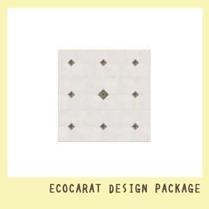 エコカラットデザインパッケージ ミックスシリーズ タイルプラン アンティーク グレイッシュブラウン 1m2(見切り材なし)