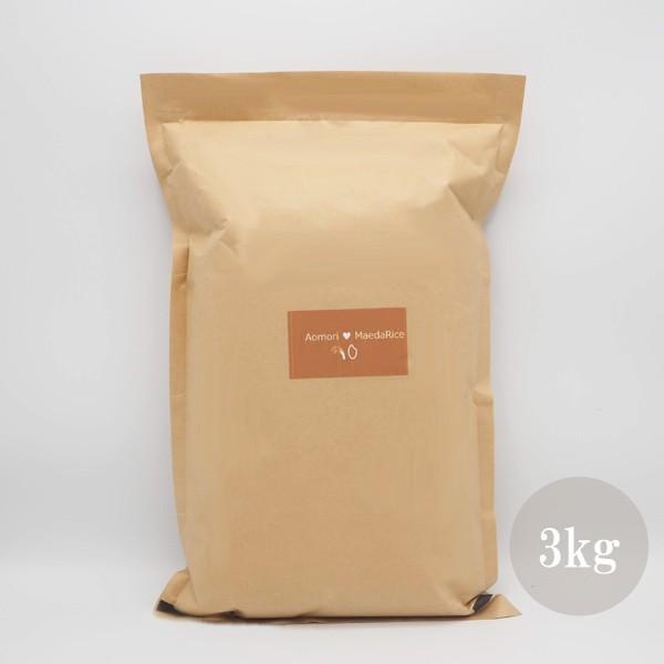 米 3kg 白米 令和3年産 青森県産 産直米 送料無料 日本郵政レターパックプラス発送 対面配達 代引き不可 日時指定不可|maeda-rice|03