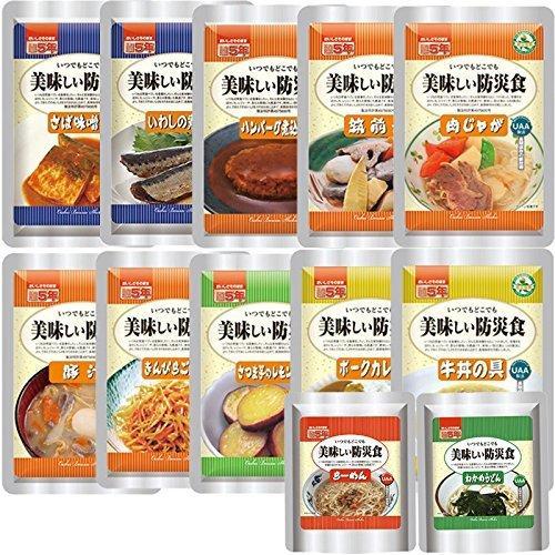 店舗 美味しい防災食 おかず 評価 12種類Dセット お惣菜と麺類