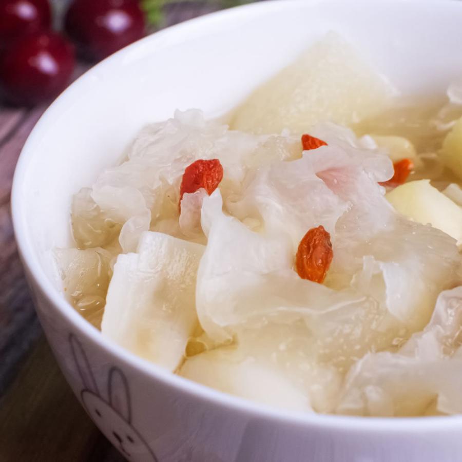 乾燥 白きくらげ(300g) 白木耳 銀耳 中国産 業務用 キクラゲ 高級 中華食材|magao-jp|04