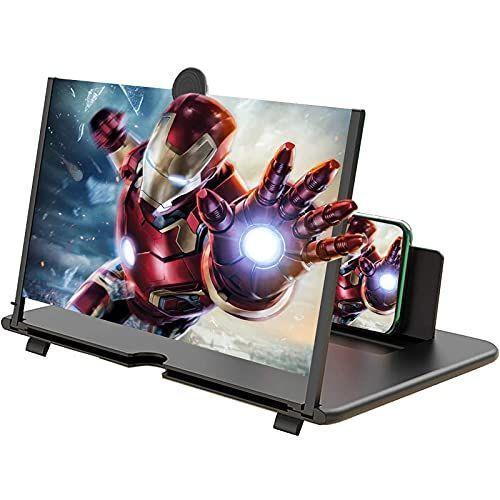 Glink2021最新版 高級 携帯スクリーン拡大器 12インチ スマホ画面拡大鏡 スマホ拡大鏡 HD スマホ用映画ビ 3-4倍 スクリーンアンプ 訳あり