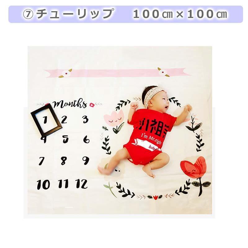 月齢フォトシーツ 月齢フォトシート 寝相アート お昼寝アート おひるねアート 100日 出産祝い ベビーギフト  記念日フォト|magic-square|14