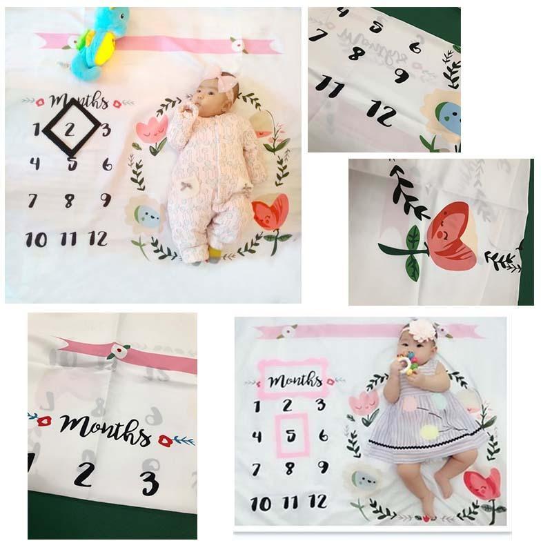 月齢フォトシーツ 月齢フォトシート 寝相アート お昼寝アート おひるねアート 100日 出産祝い ベビーギフト  記念日フォト|magic-square|15