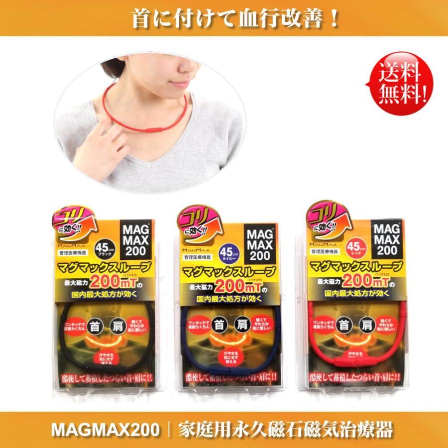 【送料無料】マグマックスループ 45cm 磁気ネックレス MAGMAX200 酷使して蓄積したつらい首・肩に つけるだけで血行改善 磁束密度200mT magmax