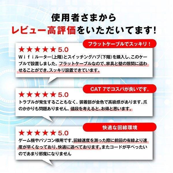 LANケーブル CAT7 2m フラット 10ギガビット 高速光通信 ツメ折れ防止 ランケーブル カテゴリー7|magokoro-store-v|02
