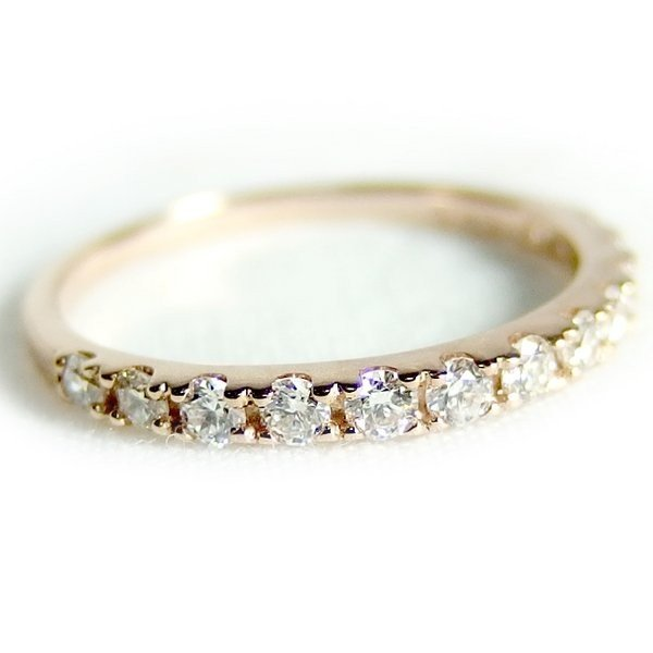 日本最大の ダイヤモンド リング ハーフエタニティ 0.3ct 9号 K18 ピンクゴールド ハーフエタニティリング 指輪, エクサ 289b0c53