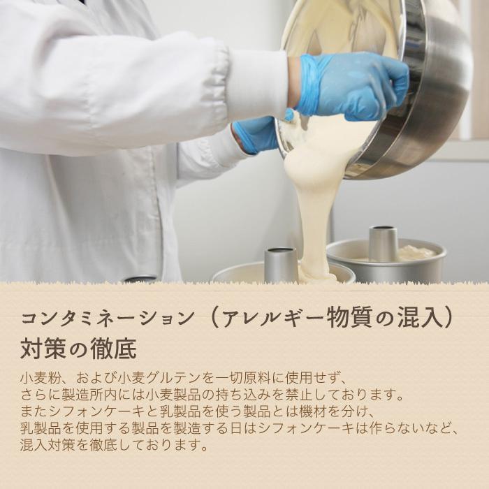米粉のシフォンケーキ プレーン 6カットセット グルテンフリー 養生卵使用|magosaku-food|06