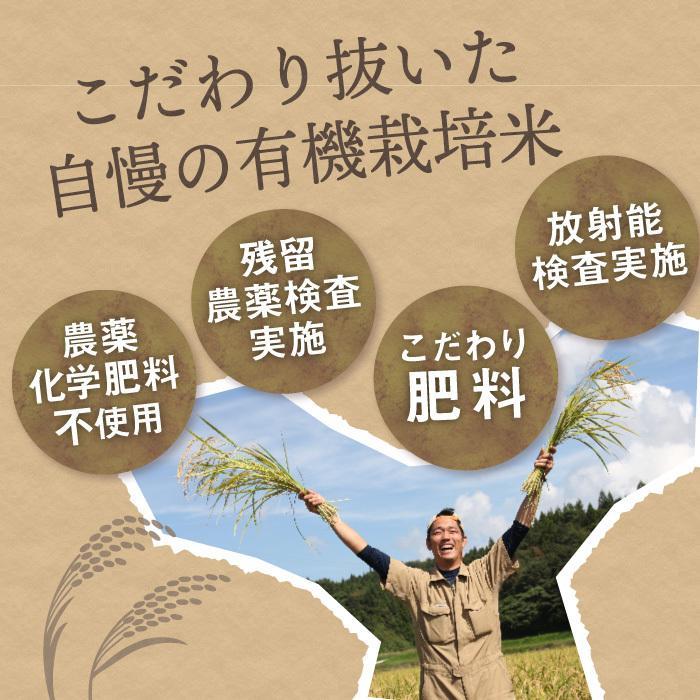 コシヒカリ 有機栽培米 無農薬 玄米 5Kg 新潟県産 こしひかり お米 magosaku-food 02
