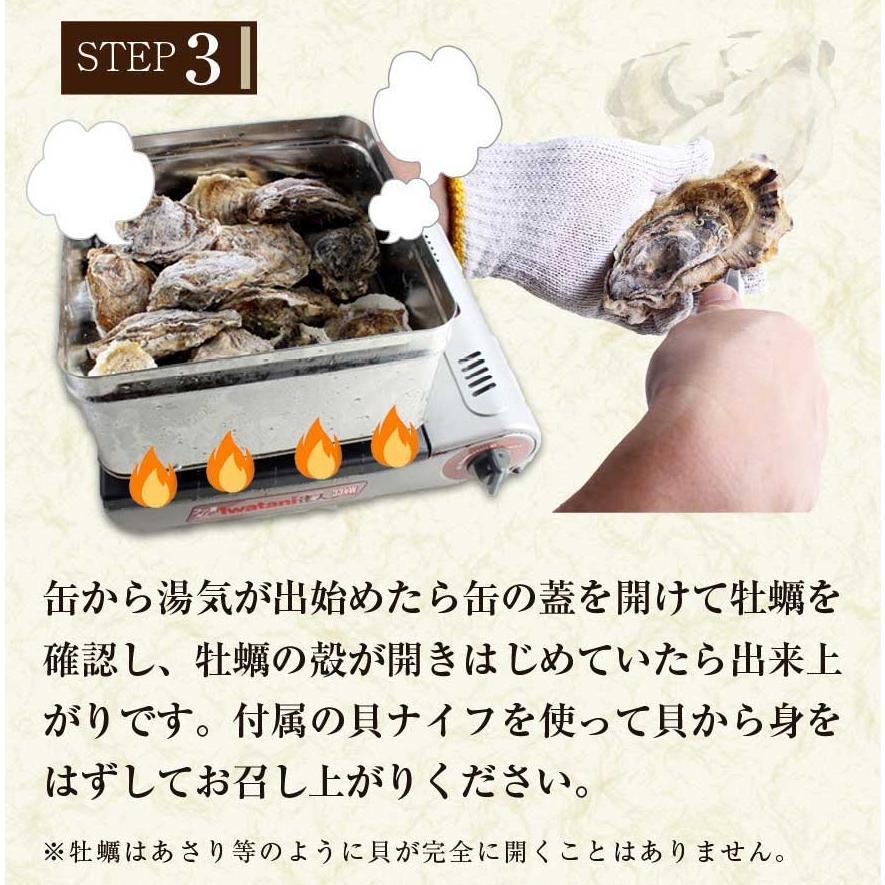 殻付き 牡蠣 カキ カンカン焼きセット 大粒 3kg 海鮮 バーベキュー かんかん焼き LLサイズ 20個〜23個入 3〜4人前  ガンガン焼き BBQ アウトドア|maguro441|13