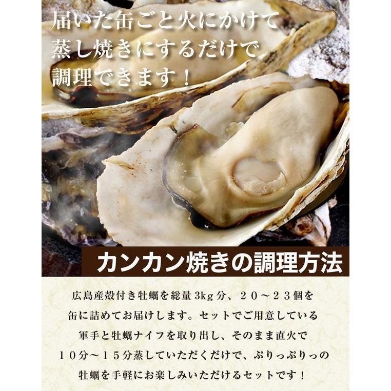 殻付き 牡蠣 カキ カンカン焼きセット 大粒 3kg 海鮮 バーベキュー かんかん焼き LLサイズ 20個〜23個入 3〜4人前  ガンガン焼き BBQ アウトドア|maguro441|10