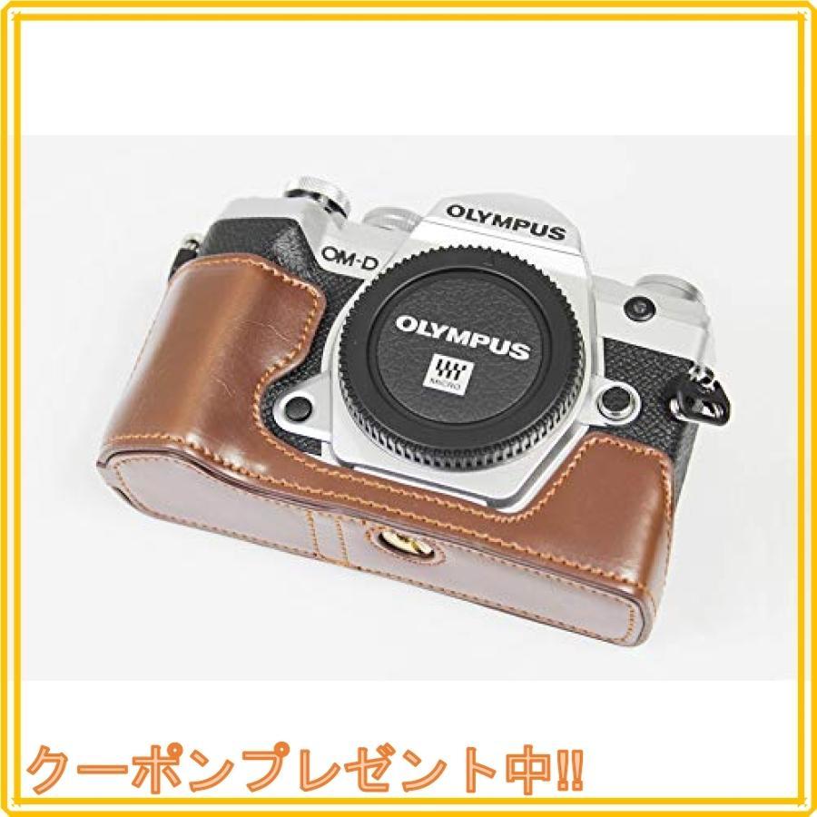 対応 Olympus オリンパス PEN OM-D E-M5 Mark III カメラ バッグ カメラ ケース 、Koowl手作りトップクラスのPUレザーカメ|mahalocastle|02