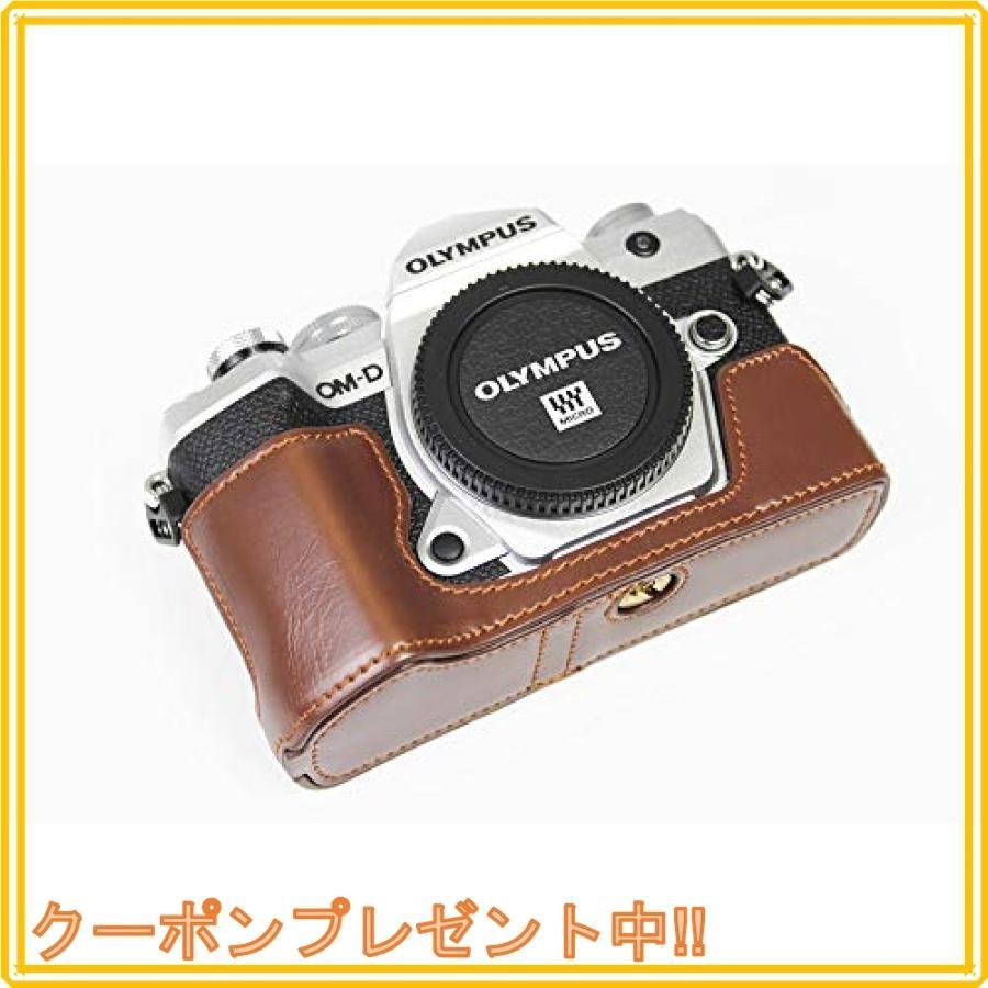 対応 Olympus オリンパス PEN OM-D E-M5 Mark III カメラ バッグ カメラ ケース 、Koowl手作りトップクラスのPUレザーカメ|mahalocastle|03