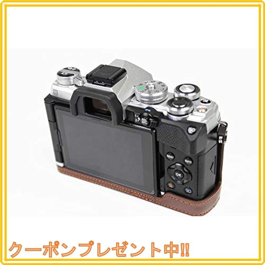 対応 Olympus オリンパス PEN OM-D E-M5 Mark III カメラ バッグ カメラ ケース 、Koowl手作りトップクラスのPUレザーカメ|mahalocastle|04