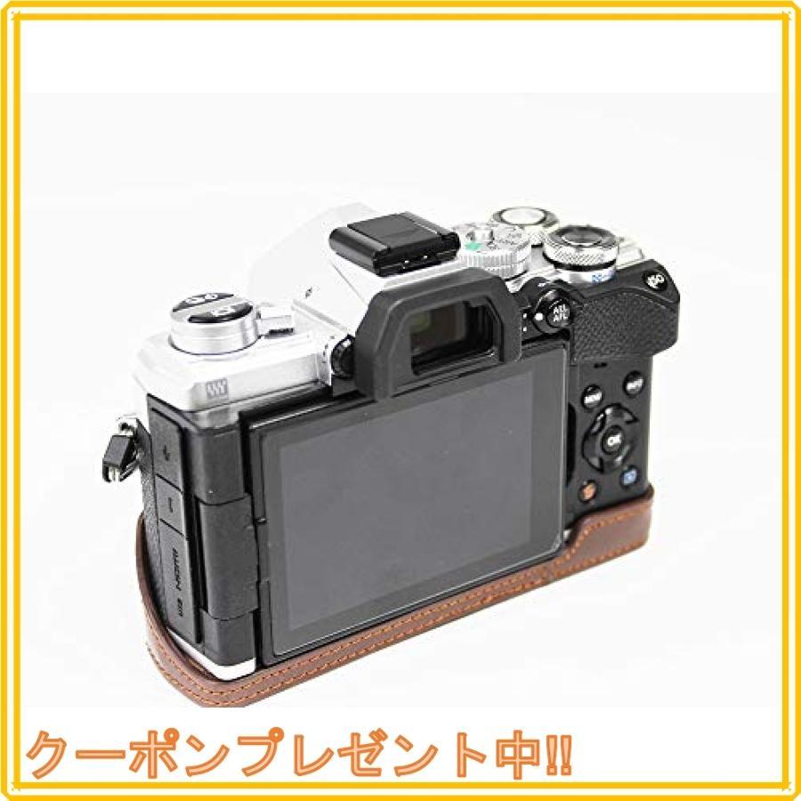 対応 Olympus オリンパス PEN OM-D E-M5 Mark III カメラ バッグ カメラ ケース 、Koowl手作りトップクラスのPUレザーカメ|mahalocastle|05