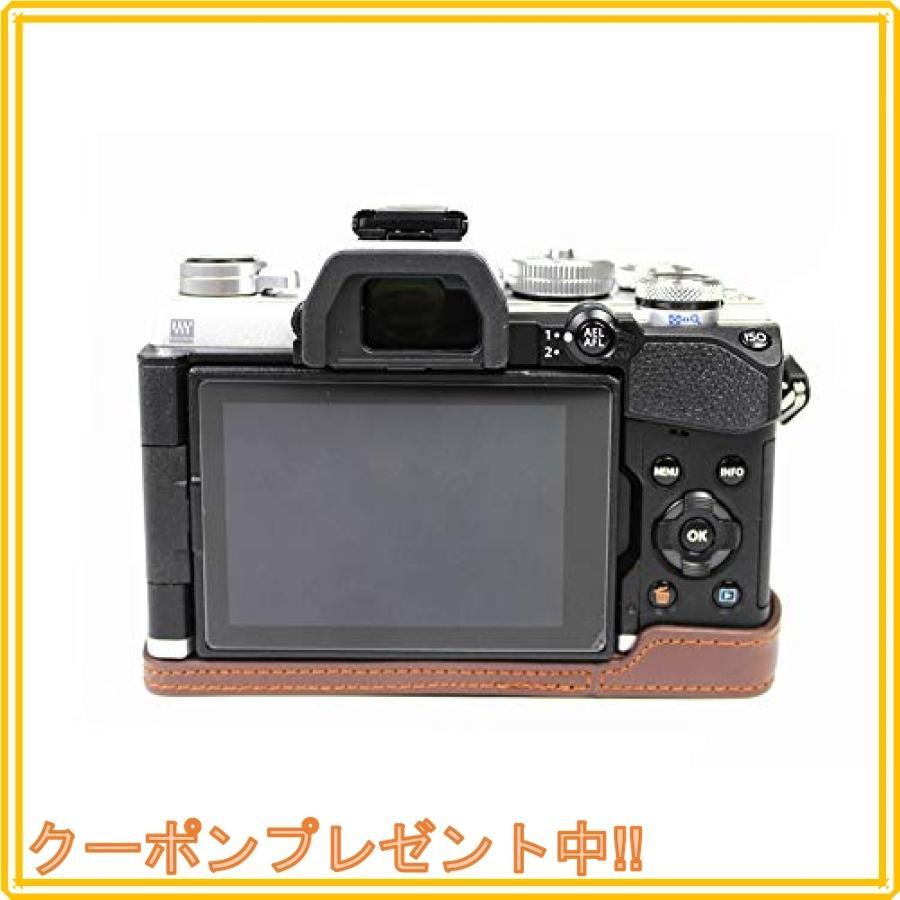対応 Olympus オリンパス PEN OM-D E-M5 Mark III カメラ バッグ カメラ ケース 、Koowl手作りトップクラスのPUレザーカメ|mahalocastle|06