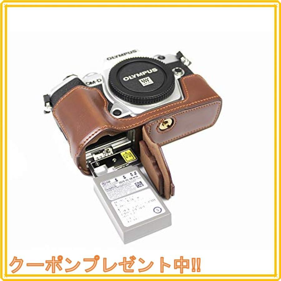 対応 Olympus オリンパス PEN OM-D E-M5 Mark III カメラ バッグ カメラ ケース 、Koowl手作りトップクラスのPUレザーカメ|mahalocastle|07