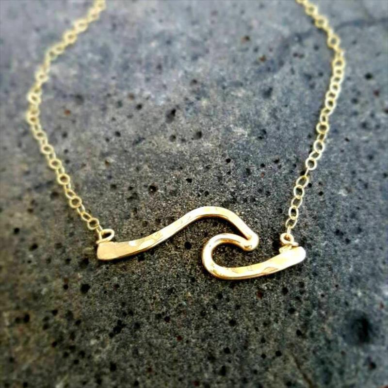 【年間ランキング6年連続受賞】 ウェーブ バー ゴールド 14KGF ネックレス from ハワイ [Wave Jewelry by MS] 海外受注, Golkin(ゴルフマートキング) 7f6328ef