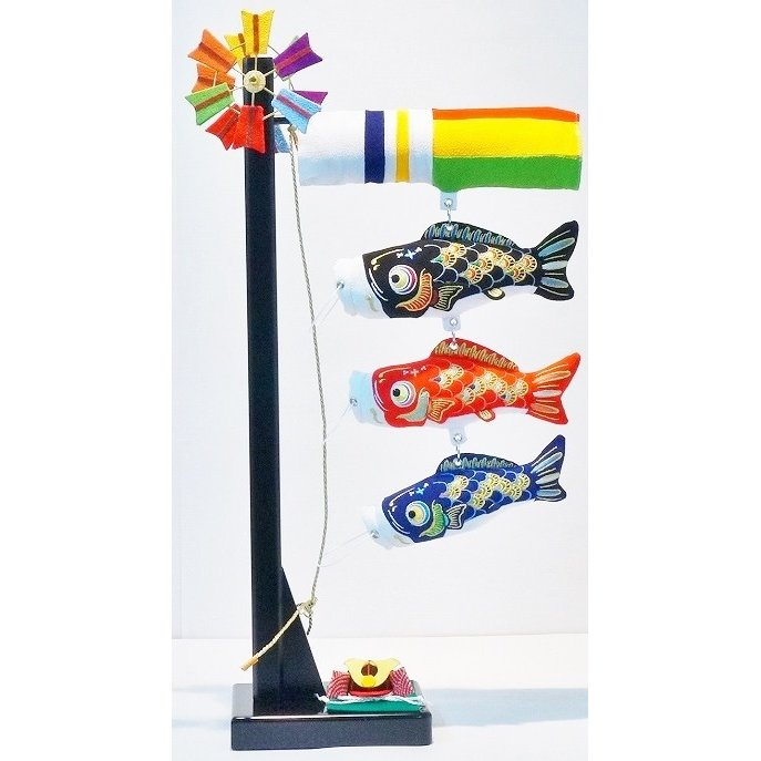 ちりめん鯉飾 57cm A 兜付 端午の節句 室内鯉飾り