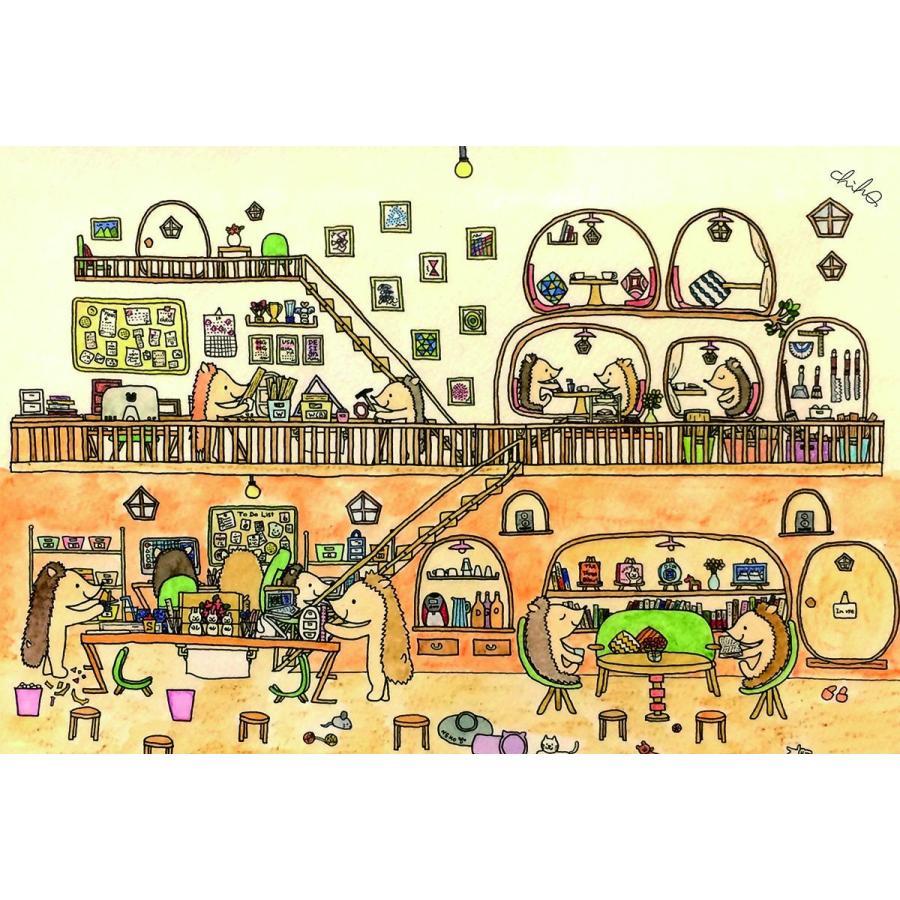 ポストカード 5枚セット ギフトカード メッセージカード おしゃれ 猫 犬 うさぎ くま ハリネズミ エンドレスくま 動物 可愛い 誕生日 記念日 絵葉書 人気 mahounokoukou 03