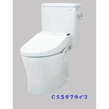 TOTO 【CS597BS+SH596BAR 】CS597シリーズ パブリックコンパクト便器 タンク式 一般地 排水心200mm 掃除口なし 手洗いなし [·■]