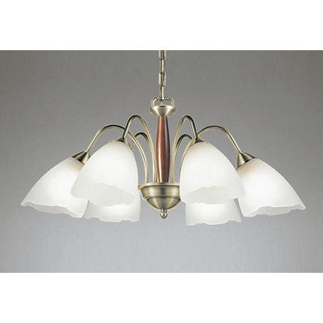オーデリック OC006487LD2(ランプ別梱) シャンデリア LEDランプ 非調光 電球色 真鍮ブロンズメッキ/オーク 〜10畳 [(^^)]