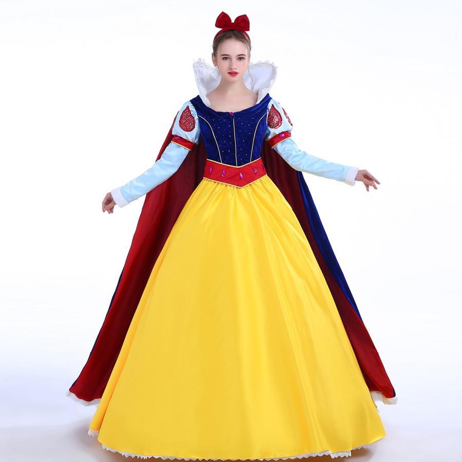 ハロウィン 白雪姫 コスプレ | コスプレ衣装 コスチューム 仮装 衣装 大人用 女性用 レディース プリンセスドレス プリンセス ドレス 大きいサイズ Lサイズ XL