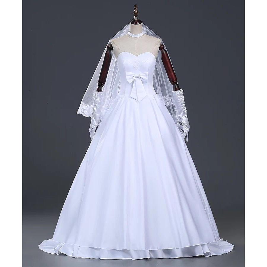コスプレ 白の女王 ウェディングコスプレ 仮装 女性用 コス レディース なりきりワンピース ドレス 女王 ウェディングドレス 女性 衣装 コスチューム プリンセス