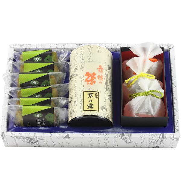 煎茶京の露160g 抹茶金平糖50g×3袋 抹茶フィナンシェ6個 舞妓の茶本舗 日本茶セット・詰め合わせ ギフトセット 京都