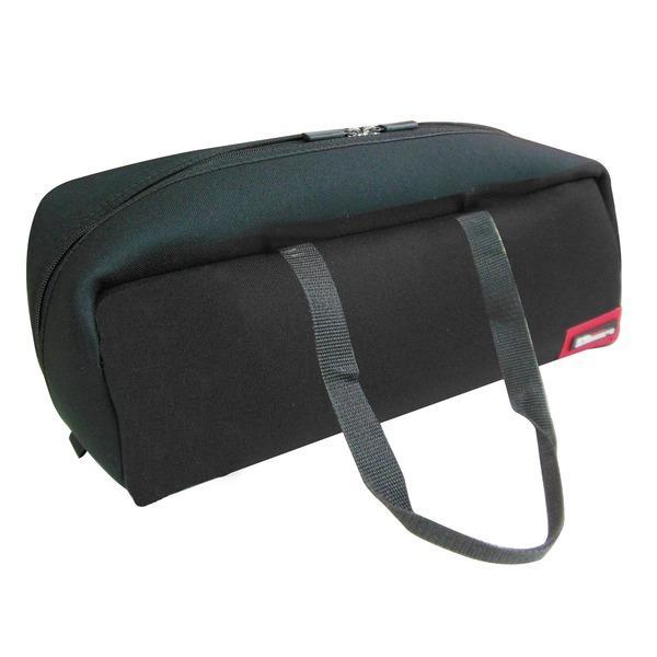 送料無料 (業務用20セット)DBLTACT トレジャーボックス(作業バッグ/手提げ鞄) Lサイズ 自立型/軽量 DTQ-L-BK ブラック(黒) 〔収納用具〕