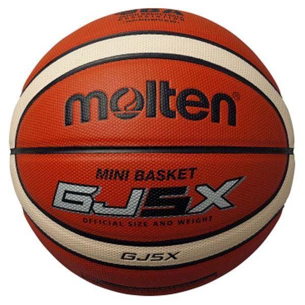 送料無料 〔モルテン Molten〕 ミニバス バスケットボール 〔5号球 GJ5X〕 人工皮革 オレンジ×アイボリー BGJ5X 〔運動 スポーツ用品〕