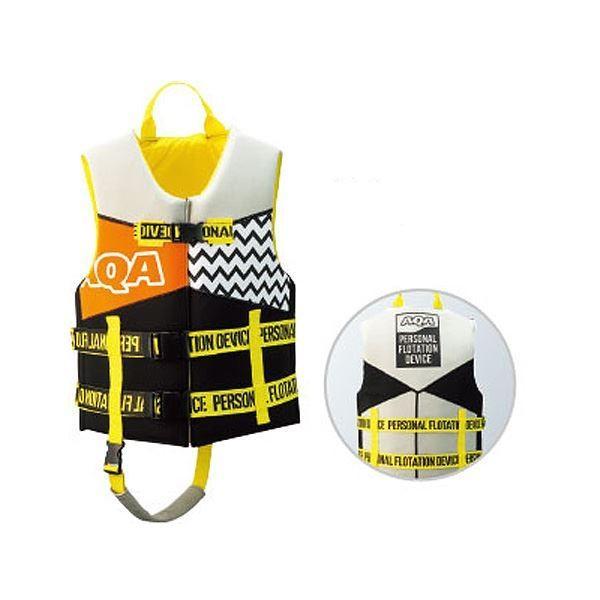 送料無料 AQA(エイ・キュー・エイ) スノーケリングジャケット 30(ブラック×イエロー) Mサイズ KA9023